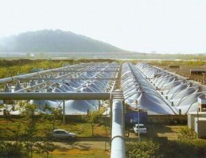 膜结构污水池加盖预张力的释放分析