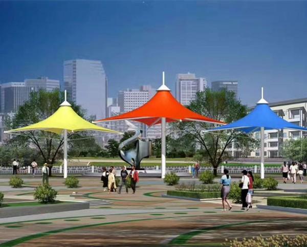 济南小清河游乐场膜结构景观