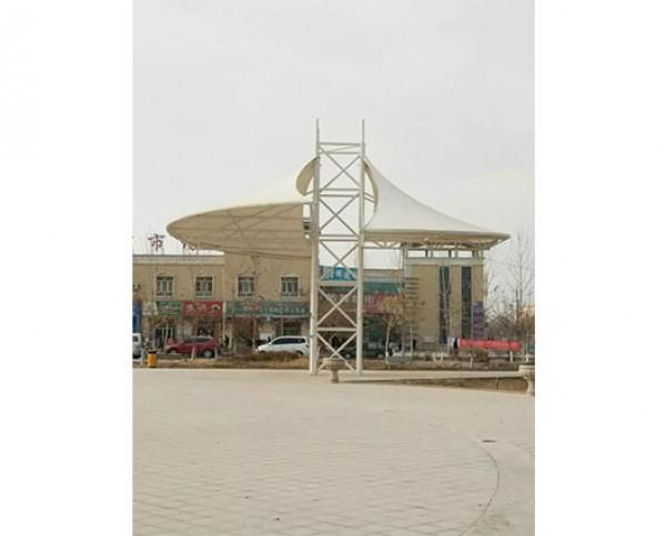 新疆阿拉尔七团广场景观膜结构