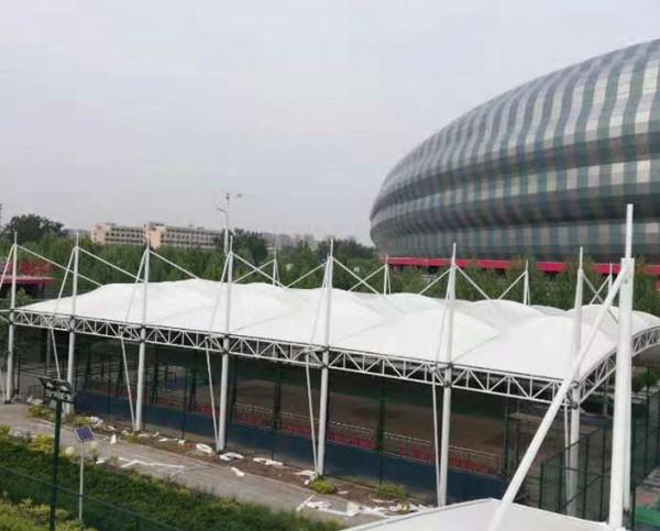 聊城市体育馆膜结构篮球场